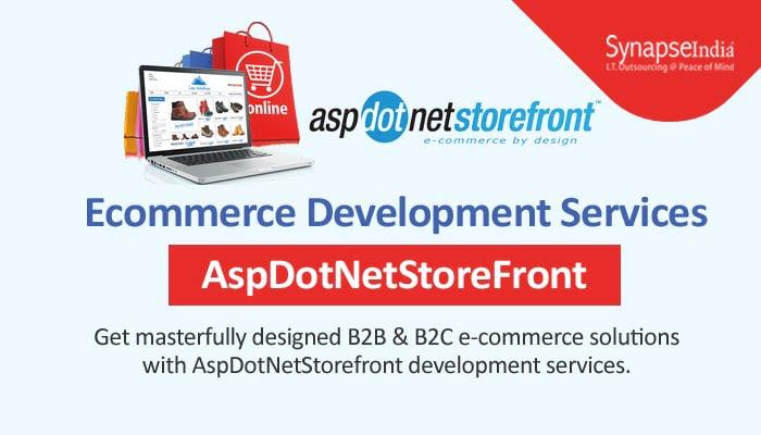 E-commerce development services from SynapseIndia - Comprehensive AspDotNetStorefront