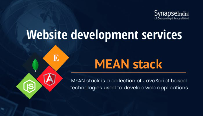 Website development company, SynapseIndia offers latest MEAN Stack services