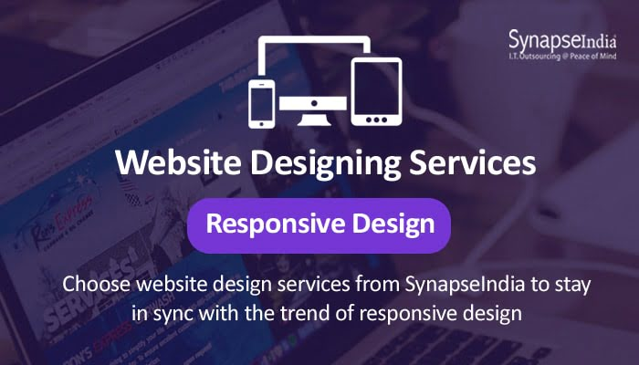 Website designing services from SynapseIndia - websites with responsive design