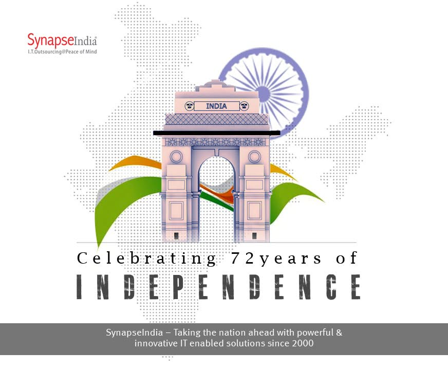 SynapseIndia Celebrates the 72nd Independence Day of India