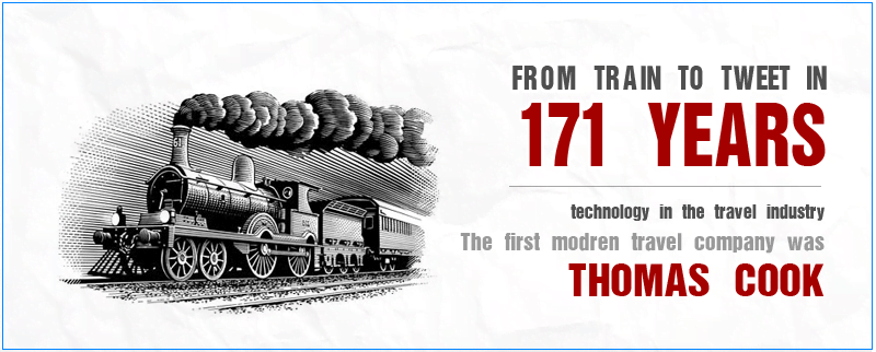 From Trains to Tweets : 171 Years of Technology in Travel Industry