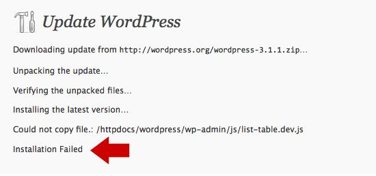 Auto update feature in WordPress