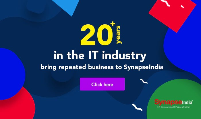 20+ years in the IT industry bring repeated business to SynapseIndia