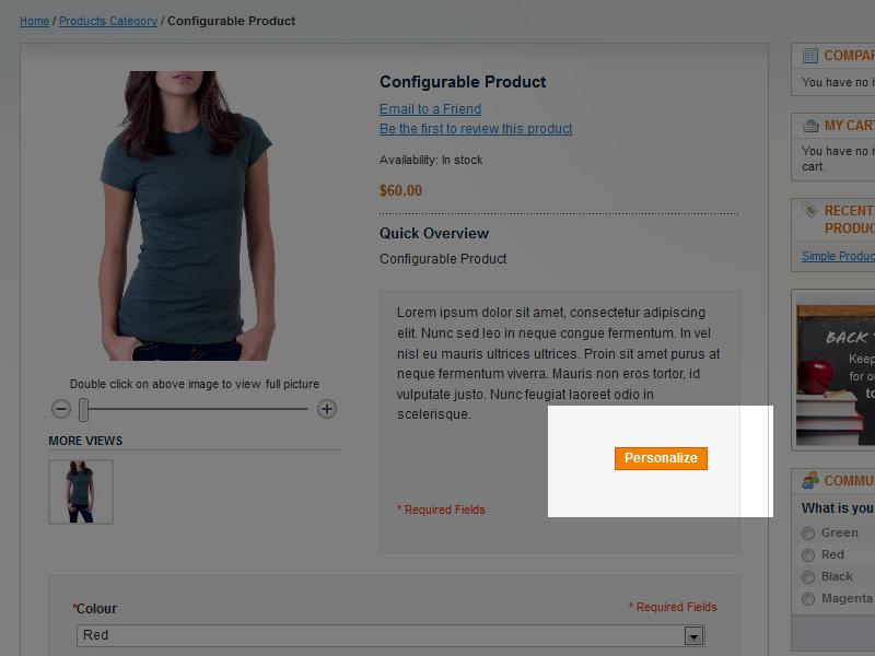 Personalized Product Previews in Magento Enterprise