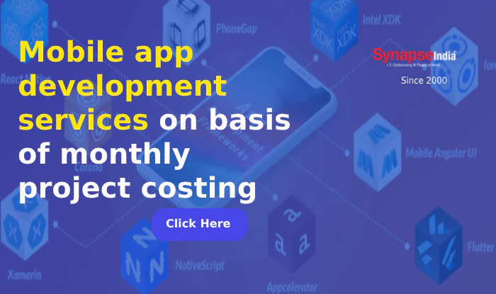Mobile app development services on basis of monthly project costing