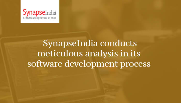 SynapseIndia conducts meticulous analysis in its software development process