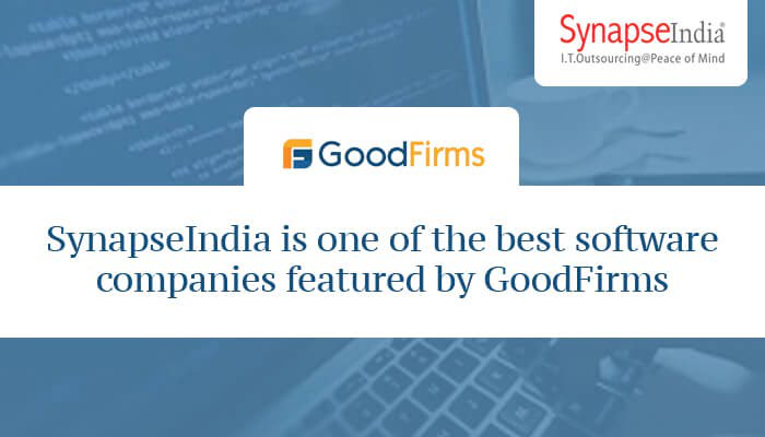 SynapseIndia is one of the best software companies featured by GoodFirms