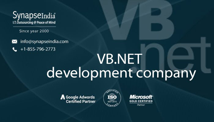 VB.NET development company - Advanced & robust solutions
