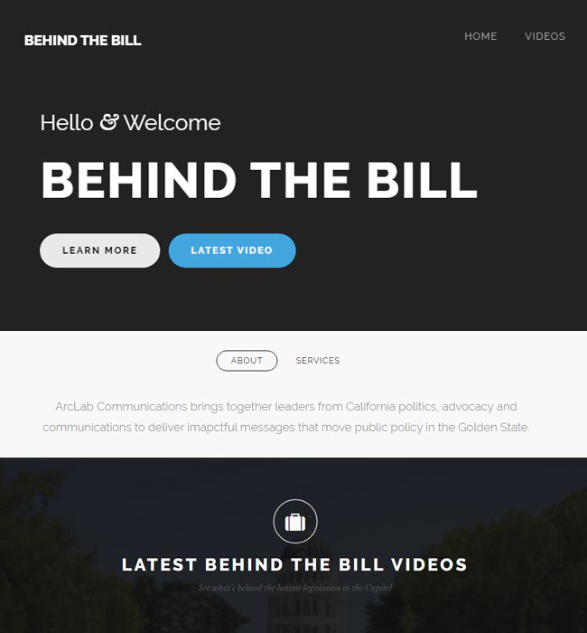 Drupal Website Development for Media Company - Behind the Bill