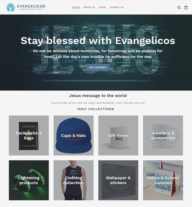 Shopify Website Development for Fashion Retailer - Evangelicos