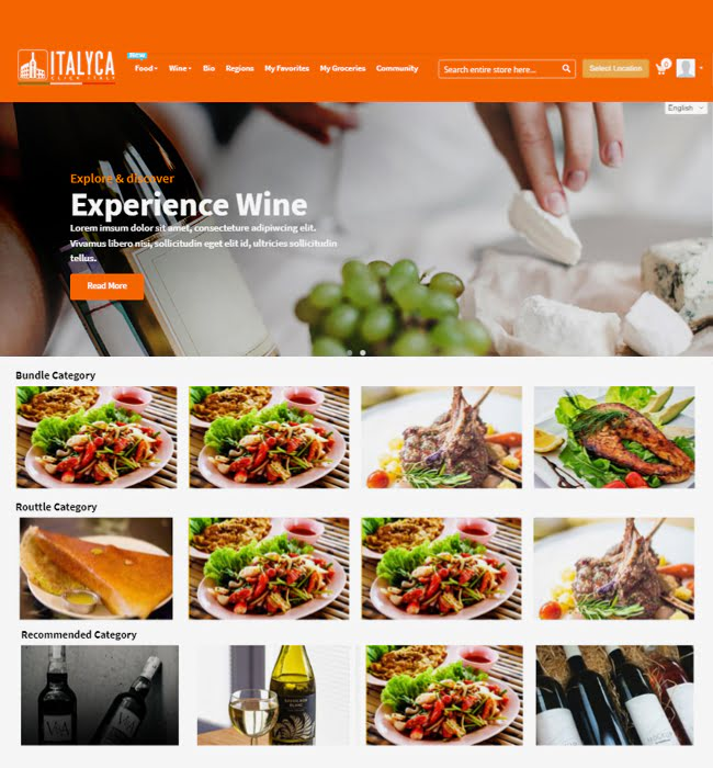 Magento Website Development for 'Blancavite' Online Wine & Food Seller