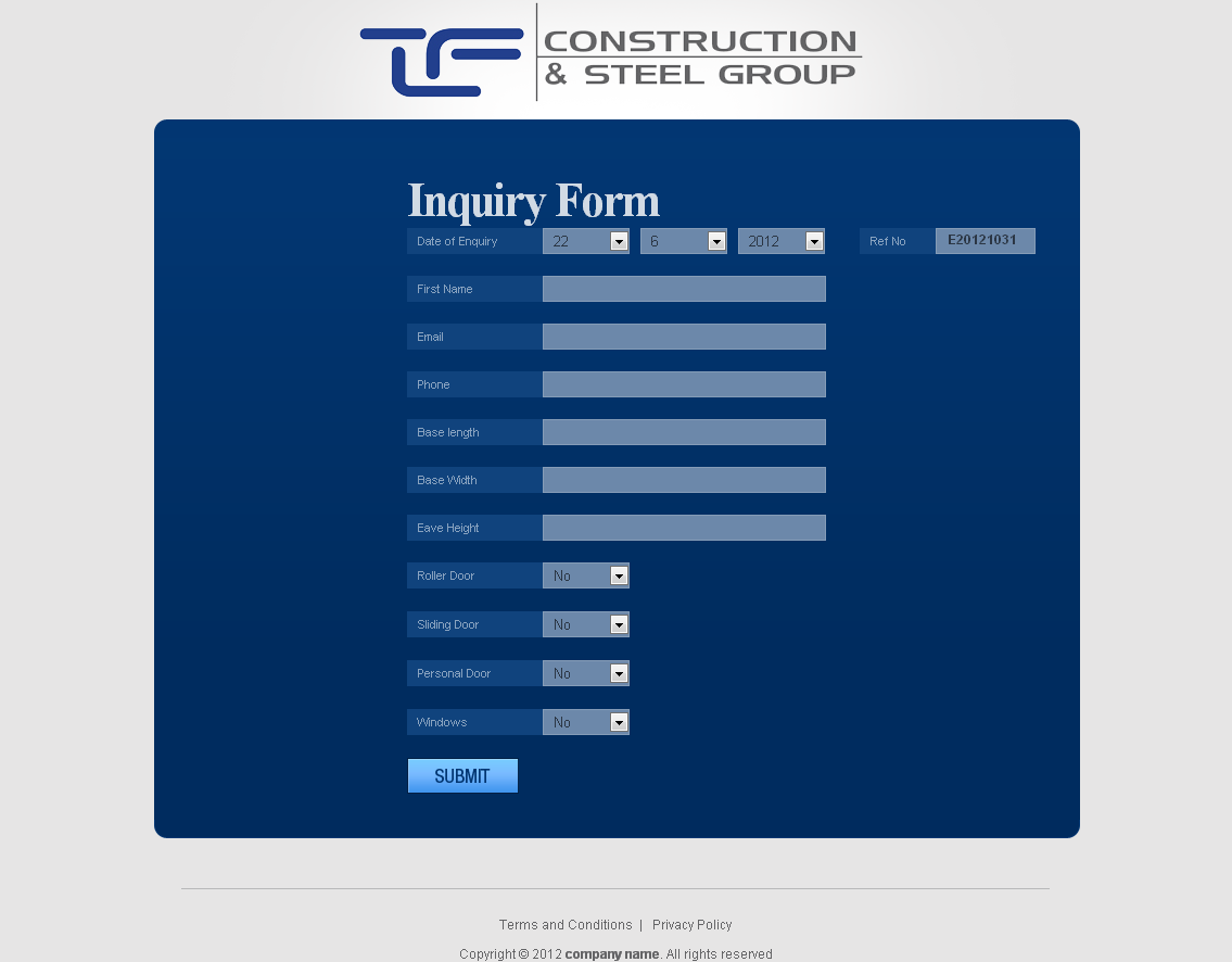 CRM Software for real Estate 'TF' - Construction & Steel Group