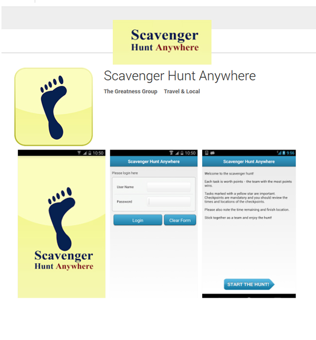 Enhancement of Android App - Scavenger Hunt Anywhere