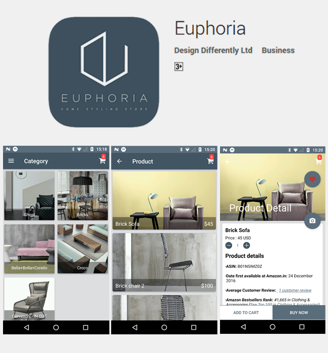 Development of an Augmented Reality Android App - Interior Design Industry