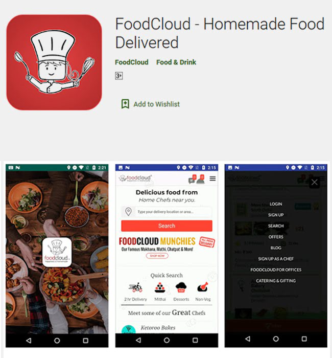 Android App Development for online food industry 'Food Cloud'