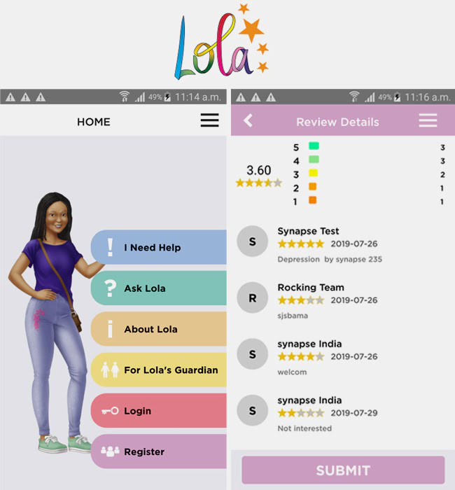 Android Mobile App Development for Media industry 'Lola'