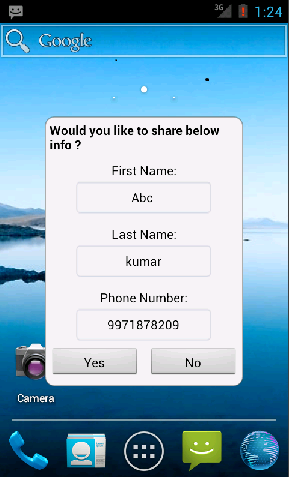 Android Mobile App to Identify Predefined SMS/Text Message 'POCAPP'