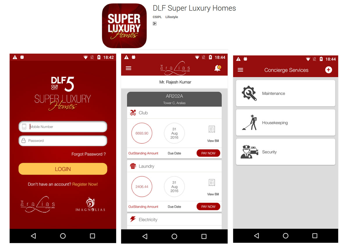 Development of Android-Based Mobile App for DLF Super Luxury Homes