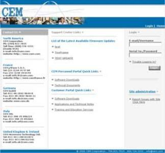 ASP Dot Net Website 'CEM Corporation' - Therapeutic Drug Monitoring