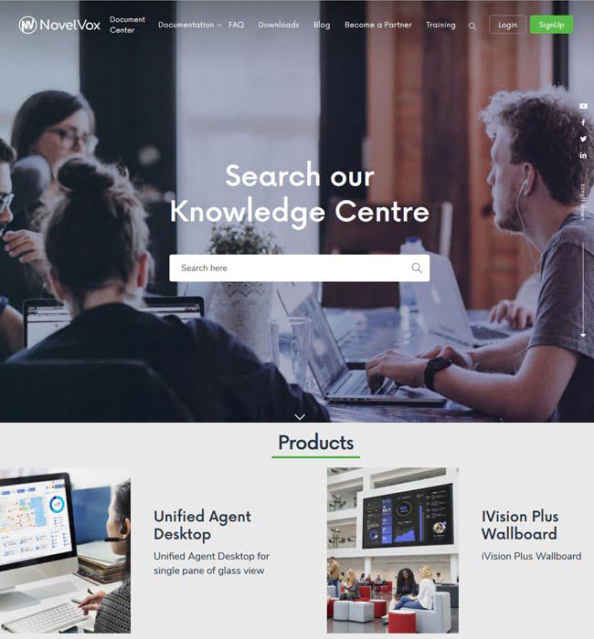 CMS Website Development for Education industry 'NovelVox' in ASP.NET