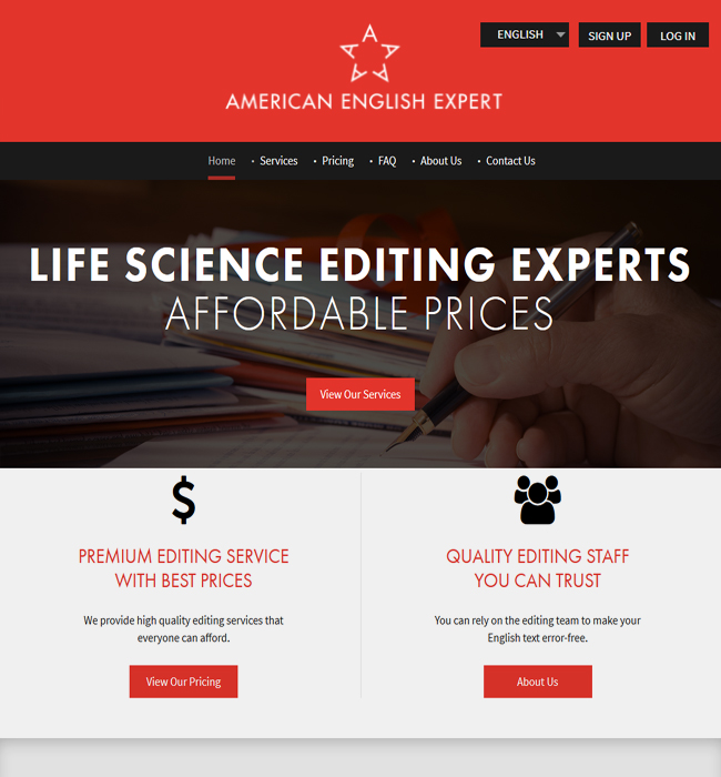 ASP.NET Website Enhancement for Writing & Editing Industry in USA