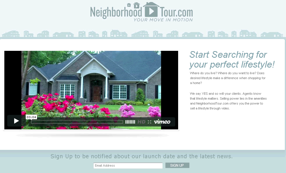 Dot Net Website for Real Estate 'Neighborhood Tour' Property Listing Portal