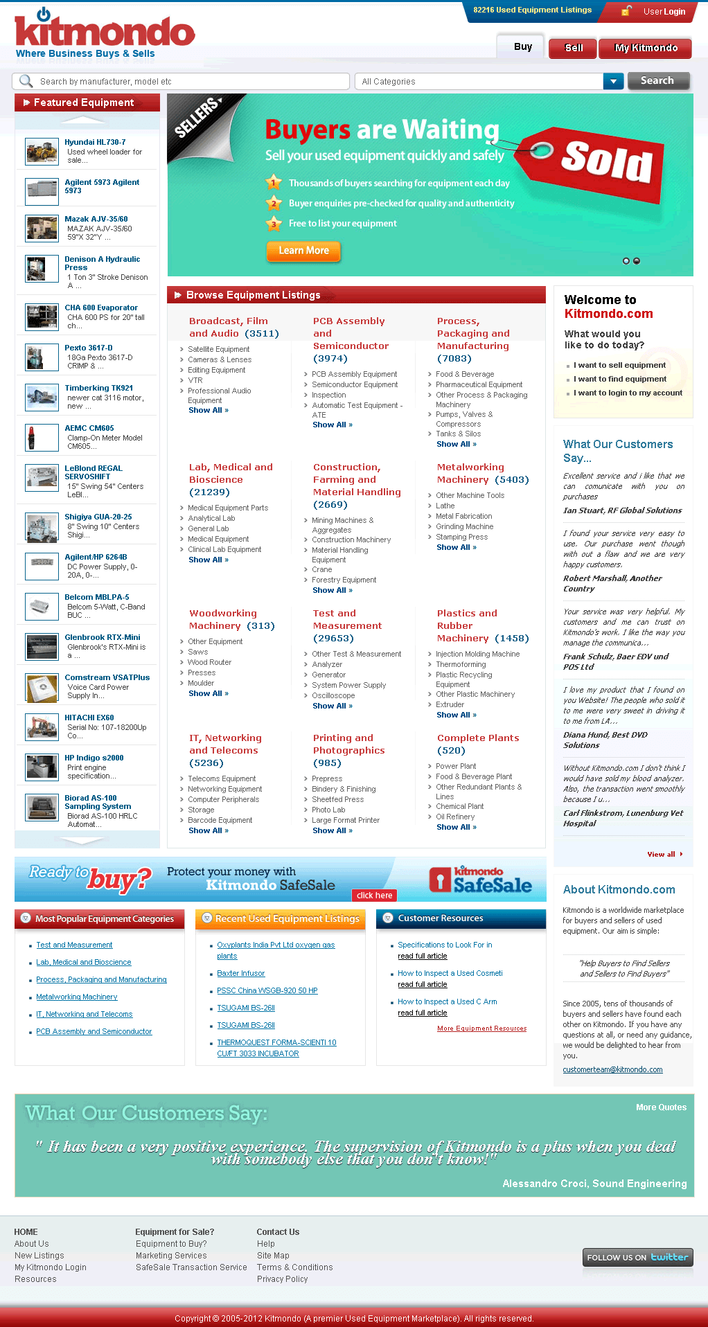 Development of ASP.NET Based Equipment Listing Site