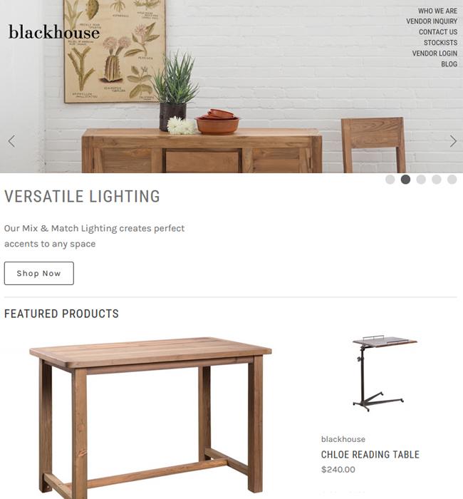 BigCommerce Website Enhancement for Furniture Industry in USA - Blackhouse