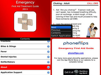 BlackBerry Mobile App for Healthcare 'FirstAid' – First Aid Treatment Guide