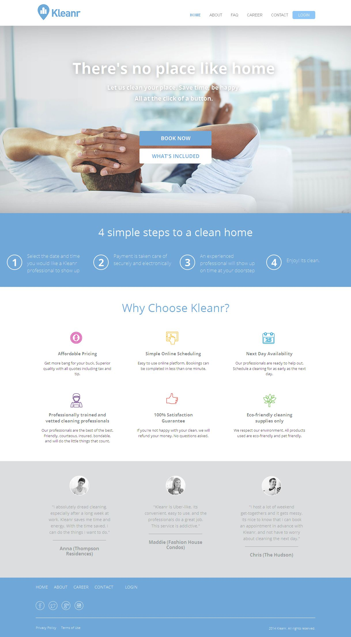 A CakePHP Based Website for Home Cleaning Services
