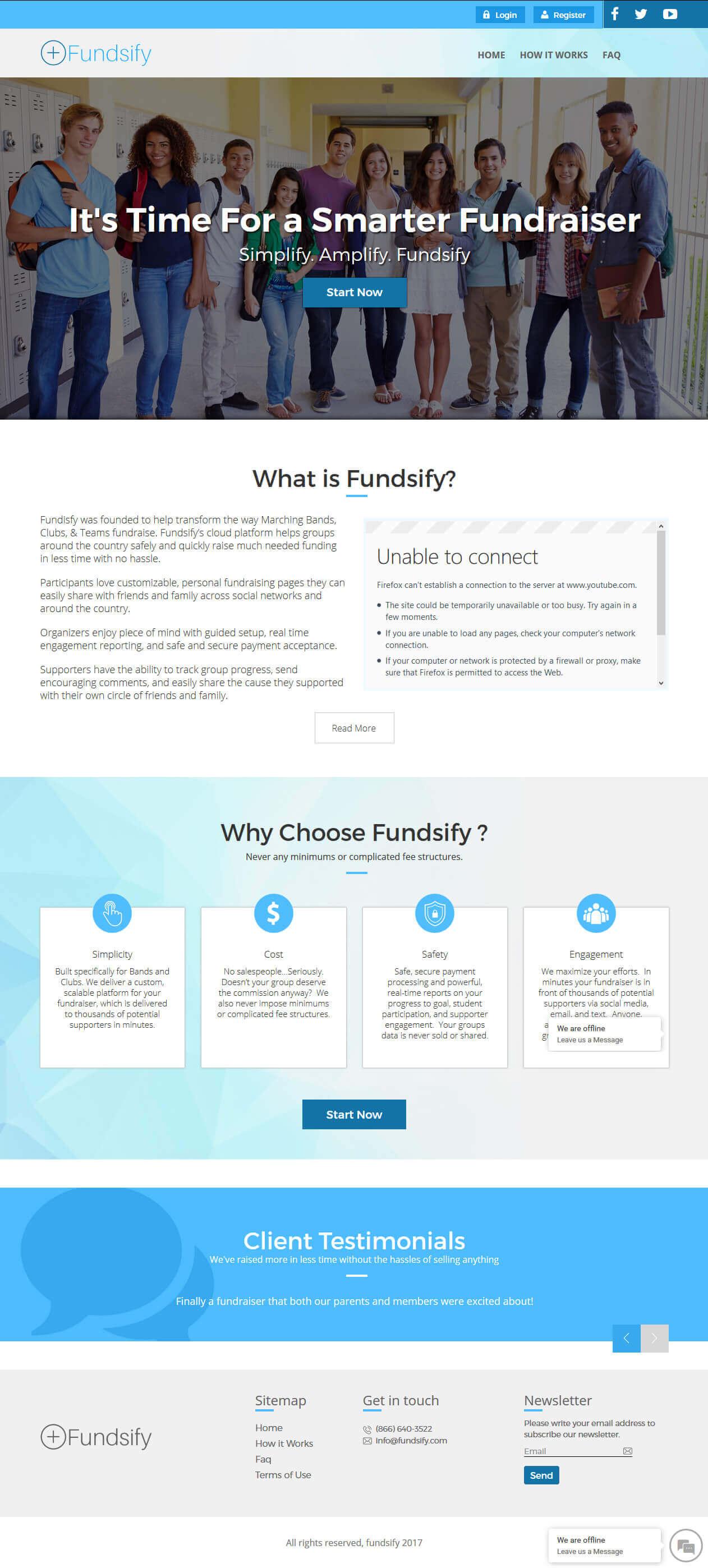 Design and Development of Fundraiser Website - Fundsify