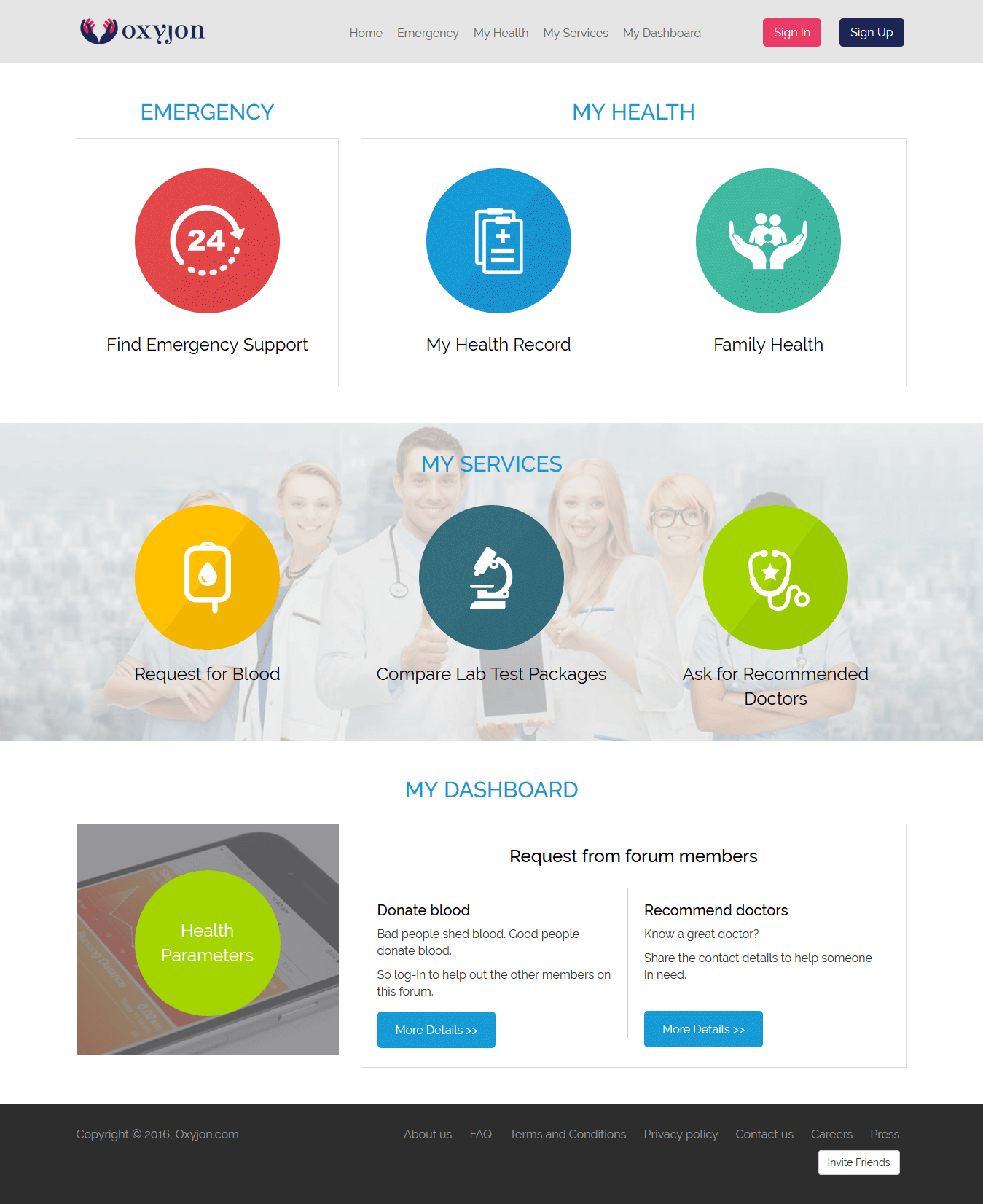 A CakePHP Based Website for Healthcare Services