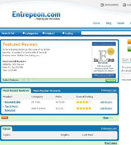 CakePHP Website - Entrepeon