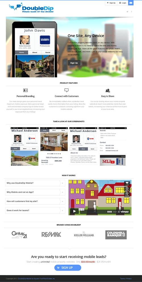 CakePHP Website for Real Estate 'DoubleDip' – Property Listing Portal