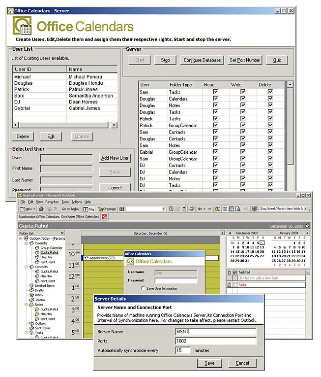 C-Sharp Software to Share MS Outlook Calendar 'Office Calendars'