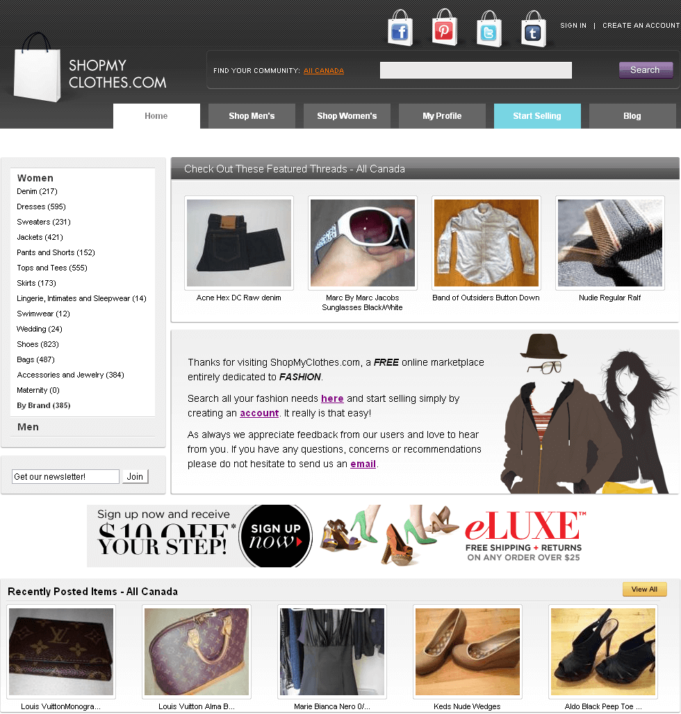 C-Sharp Website for Retail 'ShopMyClothes' – Online Fashion Store