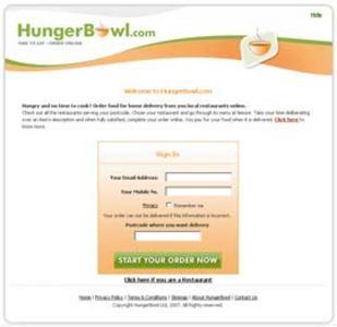 Development of Website to Order Food Online - Hungerbowl