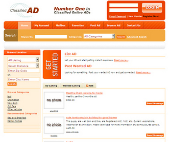 Dot Net Website for 'Reagent Search' – Online Classifieds Portal