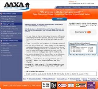 Dot Net Website for Finance 'AAXA' – Show Mortgages Related Information
