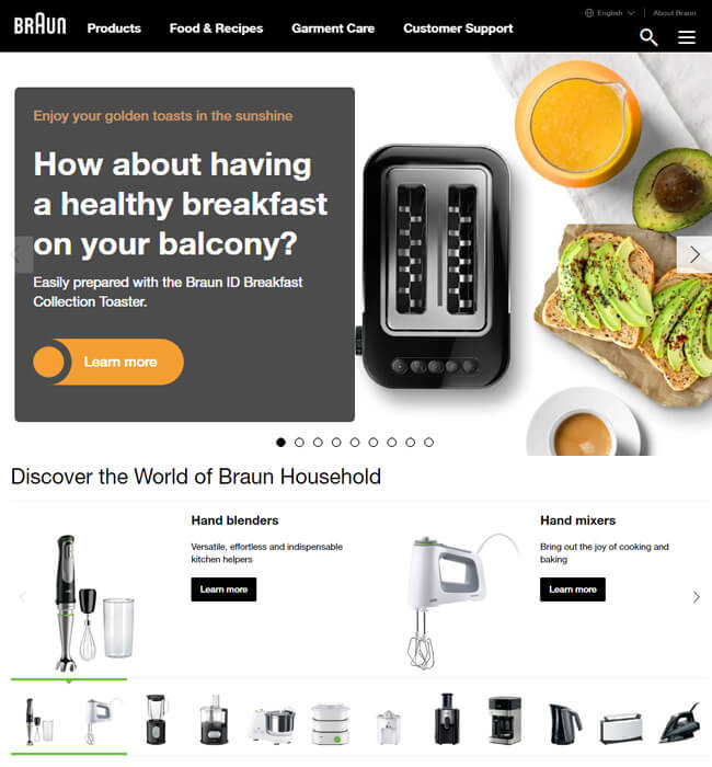 Multilingual Web Store for Kitchen & Household products in Germany