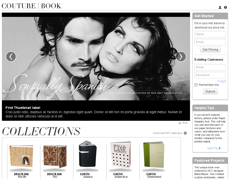 Dot Net Website for Consumer 'Couture Book' – Online Book Seller