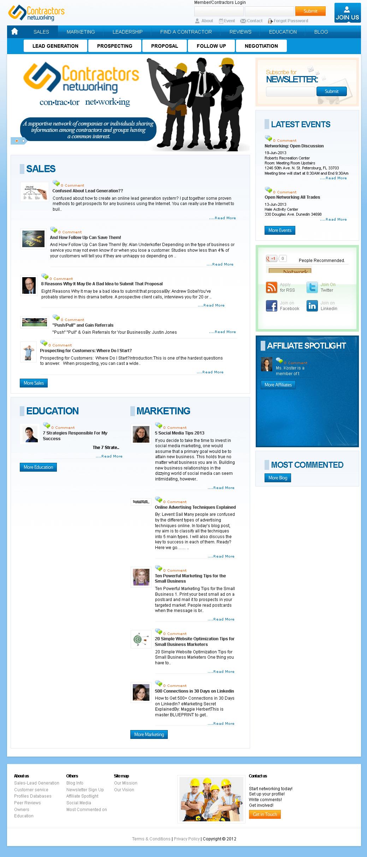 Dot Net Website 'Contractors Networking' – Contractors Training Services