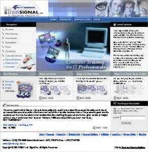 Dot Net Based Website For Computer Network Training Website - TrainSignal