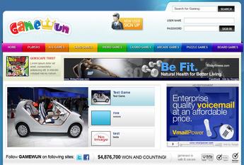 Dot Net Website & Web Application for 'GAMEFUN' – Online Gaming