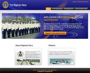 Dot Net Website for Recruitment firm for Nigerian Navy 'Nigerian Navy'