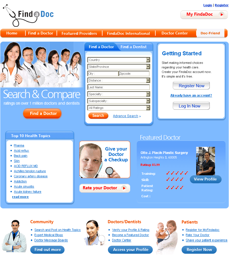 A Site for Finding a Doctor