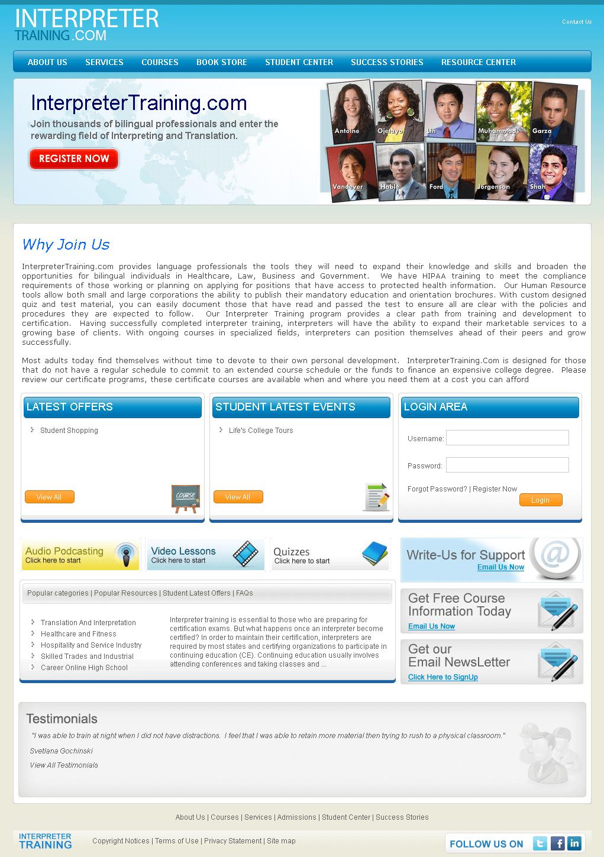 Dot Net Website for Language Professionals Online 'Interpreter Training'