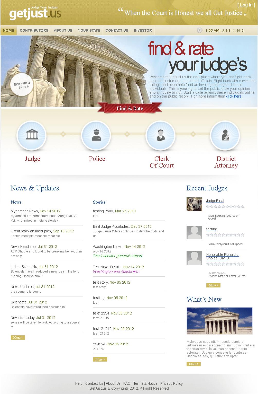 Dot Net Website to Find & Rate Your Judge's Online 'getjust'