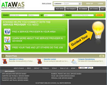 Dot Net Website for Online Services Provider Marketplace 'ATAWAS'