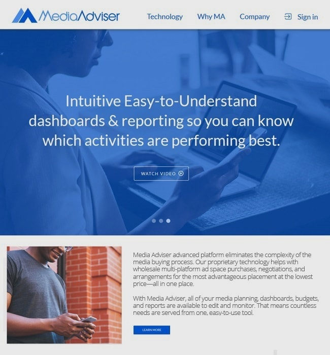 ASP.NET Web Application Development for Media Adviser, SaaS Company in USA